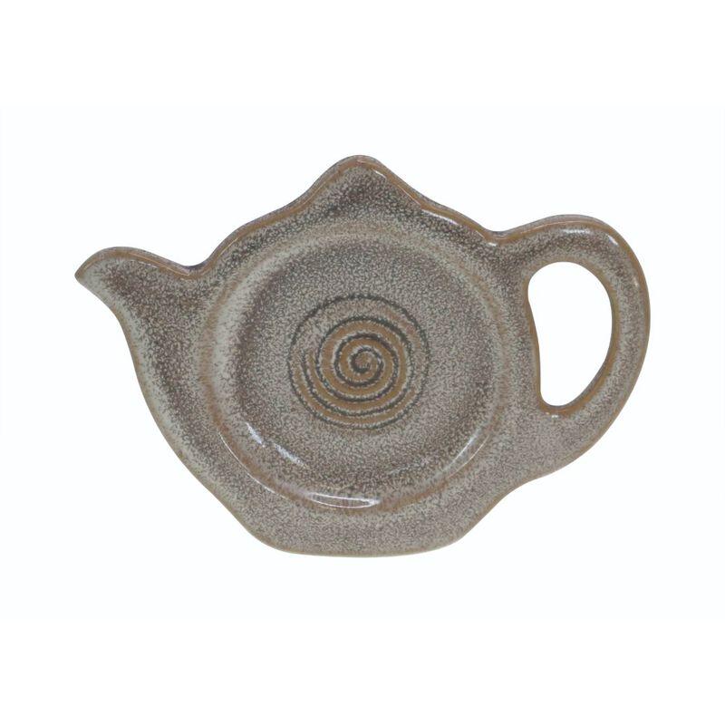 Watervale High-Quality Pottery Irish Tea Bag Holder  Grey Colour