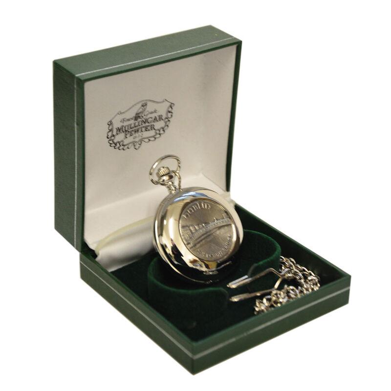 Mullingar Pewter Pocket Watch With Harp Design