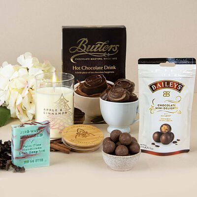 Relaxing Night In Gift Set For Her With Luxury Chocolate