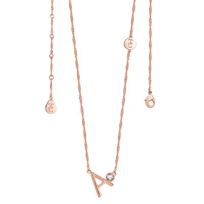 Tipperary Crystal Rose Gold Plated Pendant - Choose Your Letter