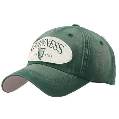 Green Guinness Distressed Harp Designed Baseball Cap