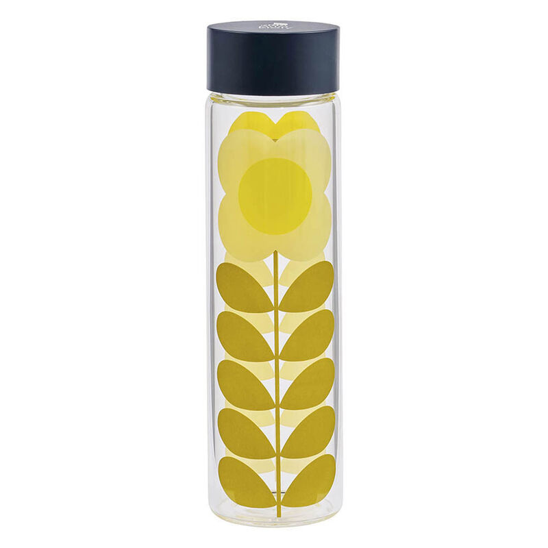 Orla Kiely Daisy Stem Designed Glass Water Bottle , 525ml