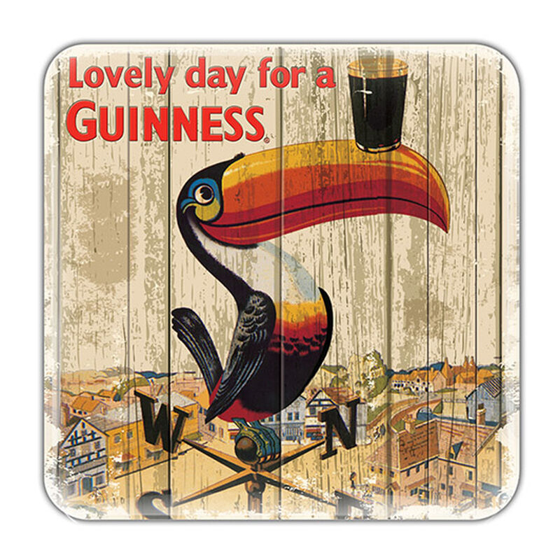 Nostalgic Guinness Epoxy Magnet With Toucan On Weathervane Design