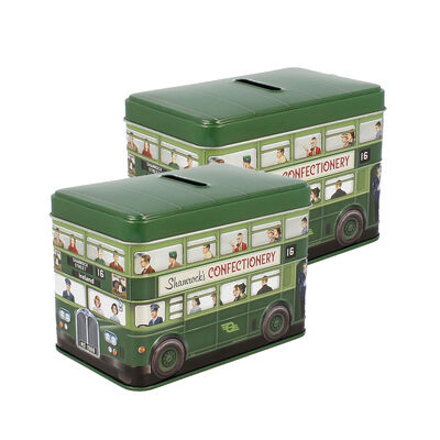 CLEARANCE - Irish Coin Bus Designed Tin Of Fudge, 170G (Two Pack)