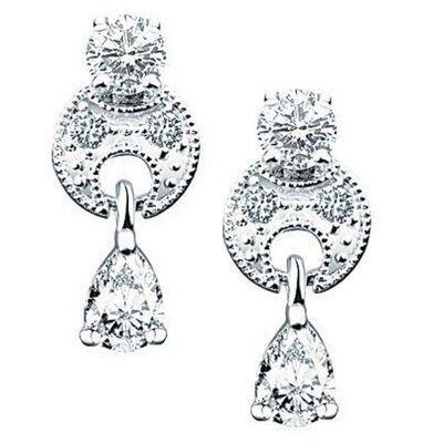 Newbridge Silverware Silver Plated Vintage Drop Tear Drop Earrings