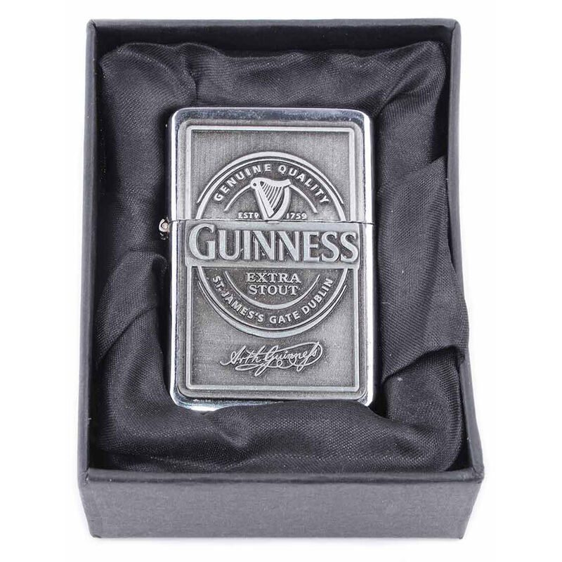 Official Guinness Oil Lighter With Engraving and Gift Box