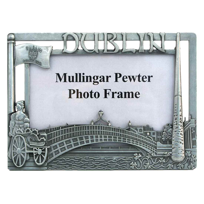 """Mullingar Pewter Dublin Landmark Designed Photo Frame 6"""" X 4"""""""