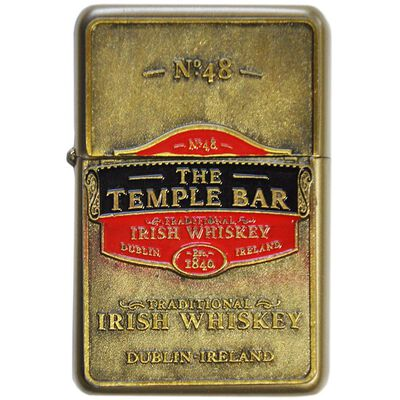 "Öl-Feuerzeug mit ""Temple Bar Traditional Irish Whiskey""-Logo"