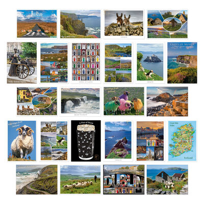 Pack of 24 Small Postcards With Irish Designs