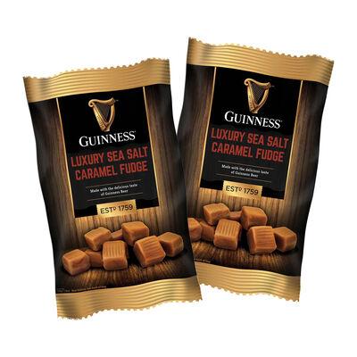 CLEARANCE - Guinness Luxury Sea Salt Caramel Fudge Bag 120G (Two Pack)