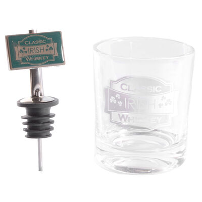 Classic Irish Whiskey Glass and Pourer