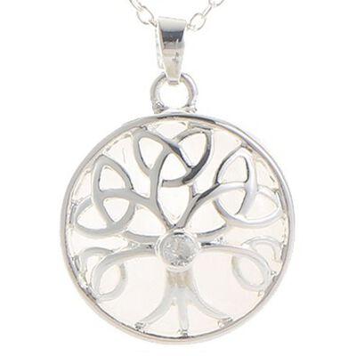Mystic Ireland Quartz Semi Precious Stone Celtic Energy Pendant