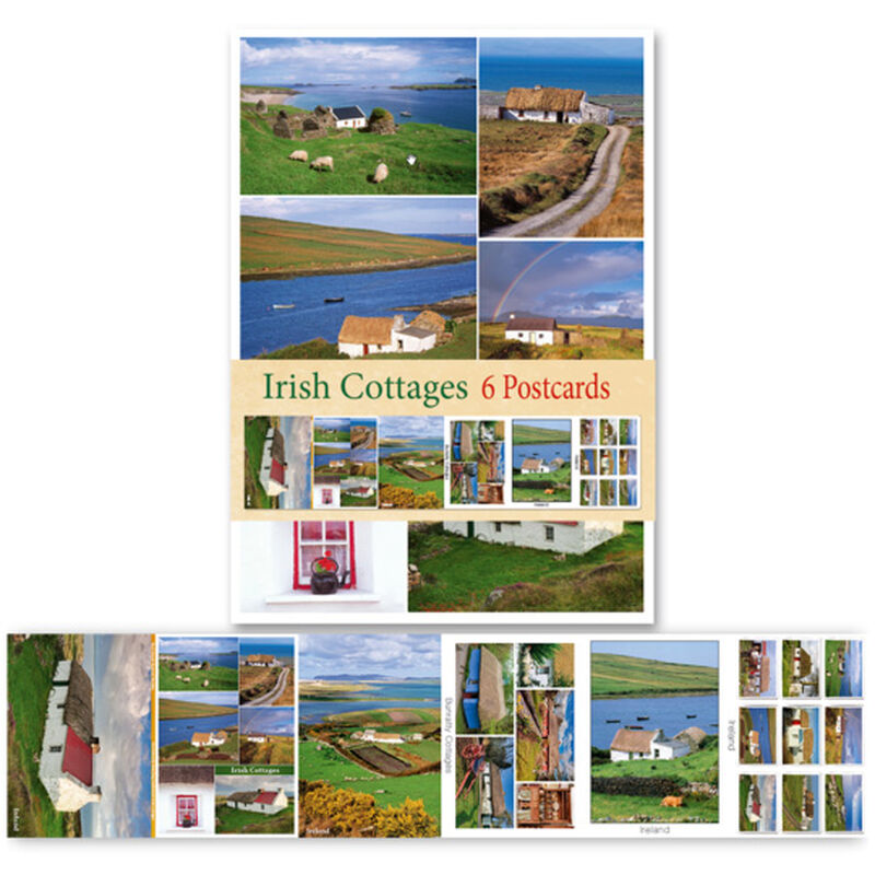 Pack Of Six Postcards Depicting Irish Cottages