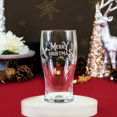Personalised Pint Glass With Engraving and Gift Box