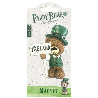 Paddy Bear Irish Designed Resin Magnet With Ireland Sign