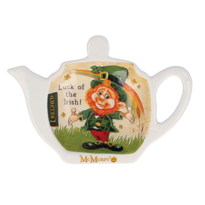 McMurfy Luck O' The Irish Leprechaun Designed Teabag Holder