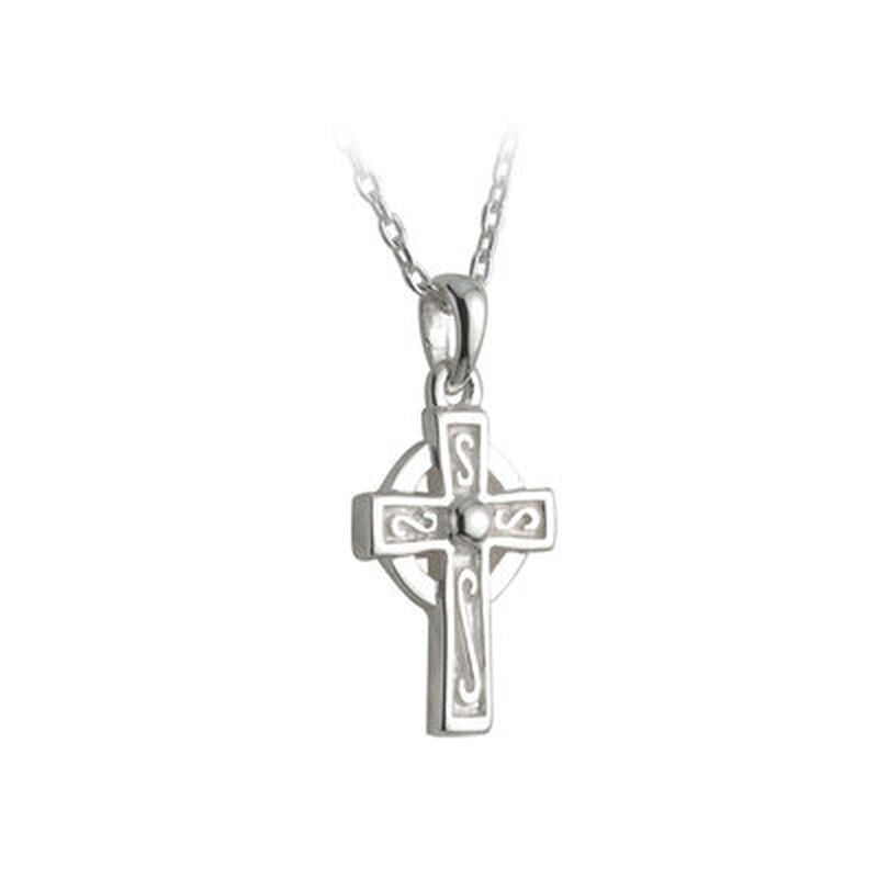 Hallmarked Sterling Silver Kid's Celtic Cross Pendant