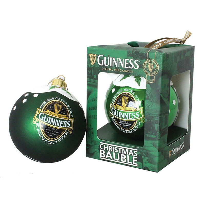 Official Guinness Ireland Collection (Soft) Bauble With Extra Stout Label Design
