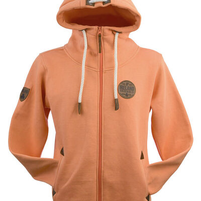 Ireland Hoodie With Leather Patch  Nude Colour