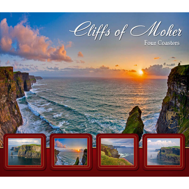 Cliffs Of Moher Designed Coasters - Set of Four