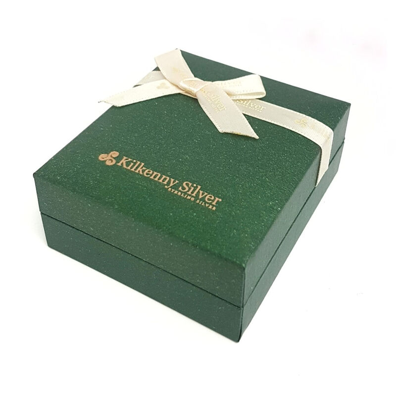 Hallmarked Sterling Silver Symbols Of Ireland Ring Presented In A Box