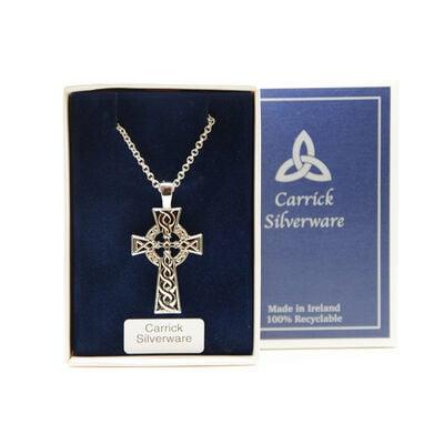 Silver Plated Carrick Silverware Celtic Cross Pendant