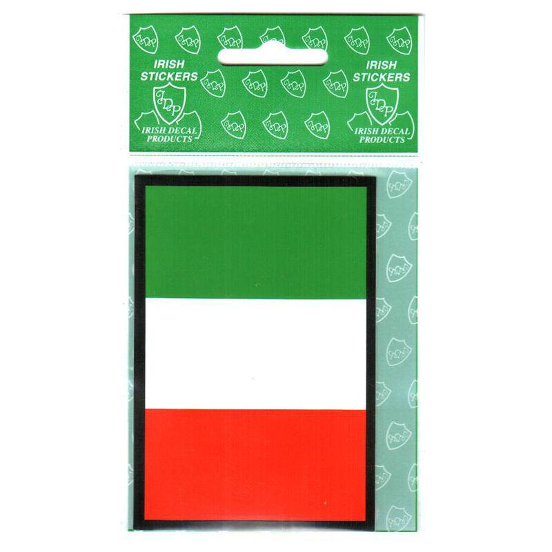 Tri Colour Rectangle Flag Sticker
