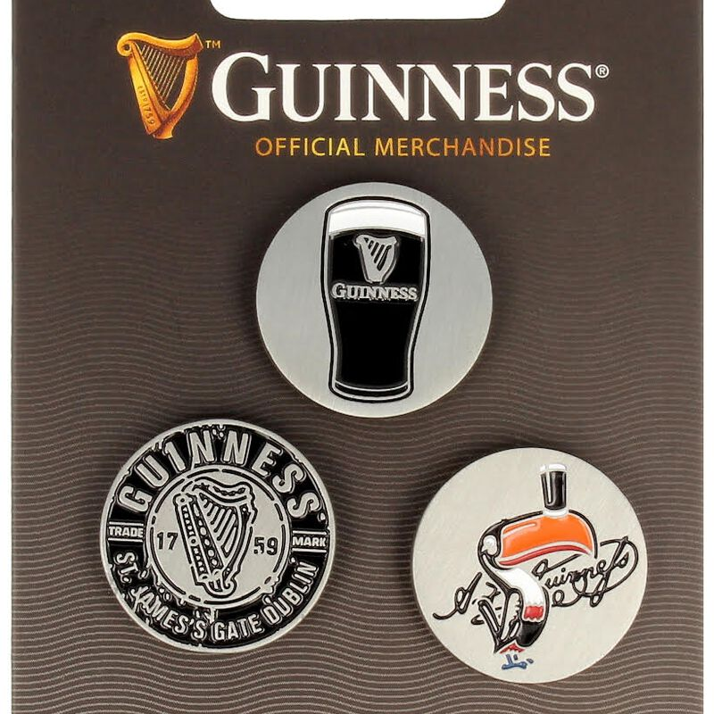 Guinness Official Merchandise 3 Pack Of Golf Ball Markers