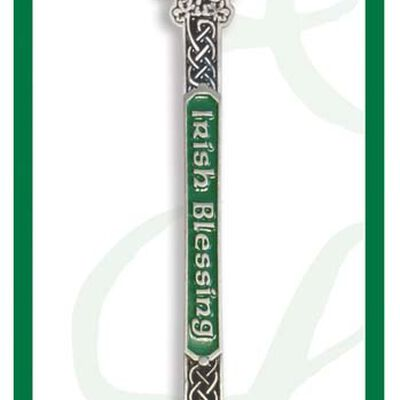 Clover Collectable Spoon With Irish Saying And Irish Blessing Text