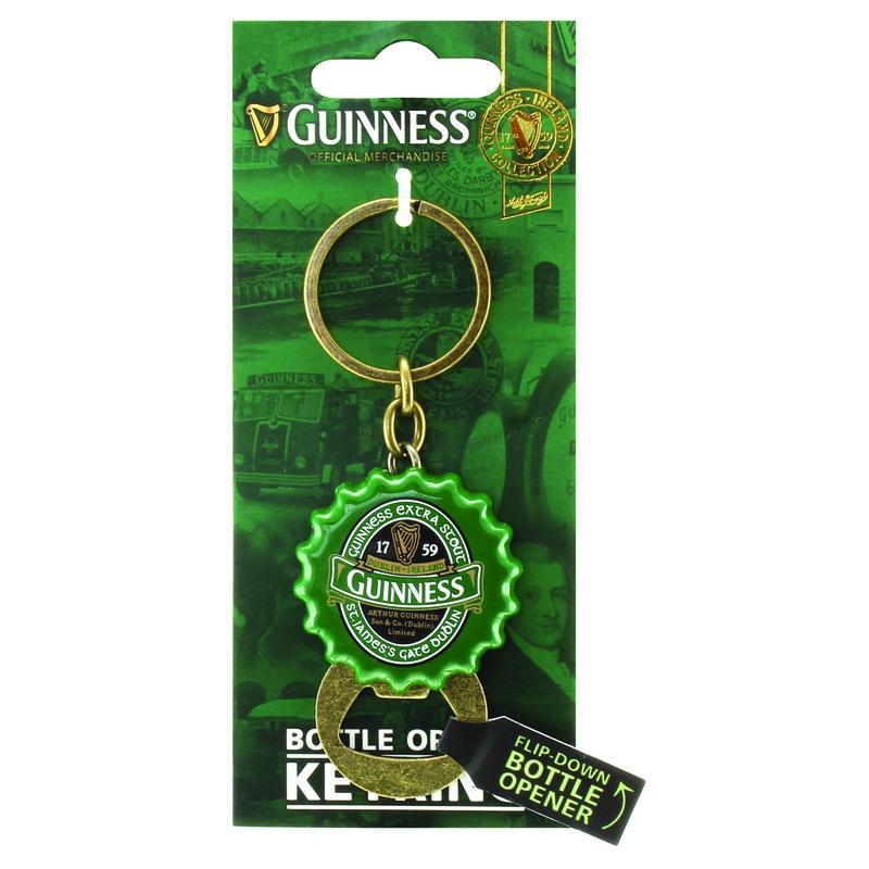 Flip Down Bottle Opener Keychain - Guinness Ireland Collection