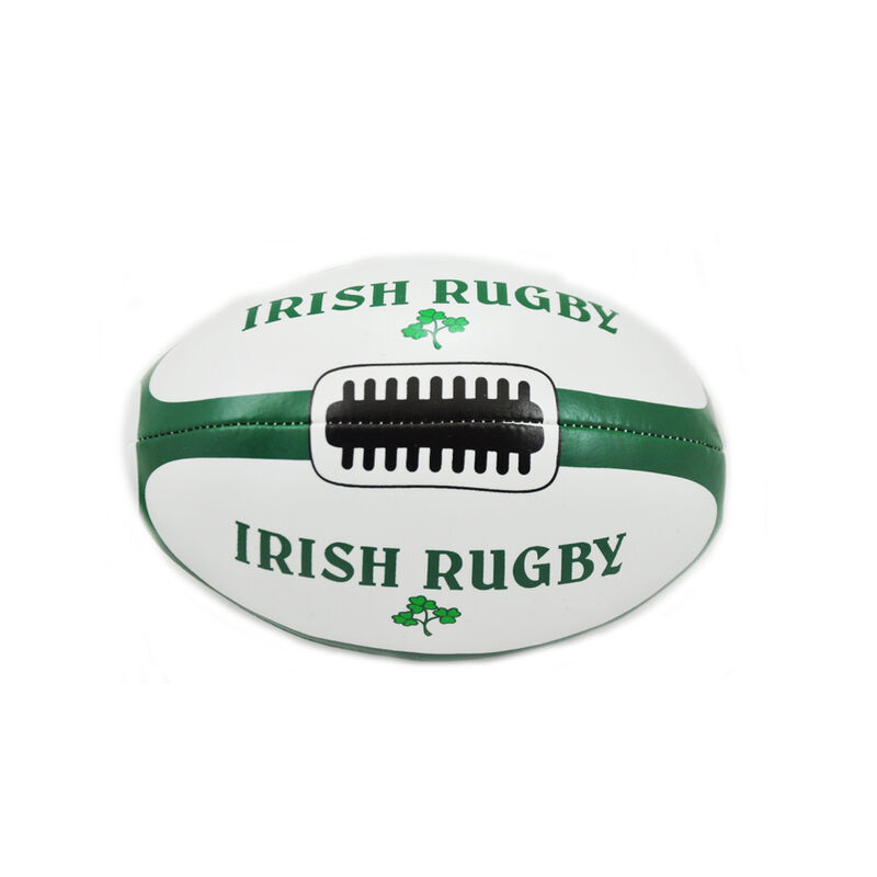 6 Ireland Green and White Rugby Ball With Shamrock