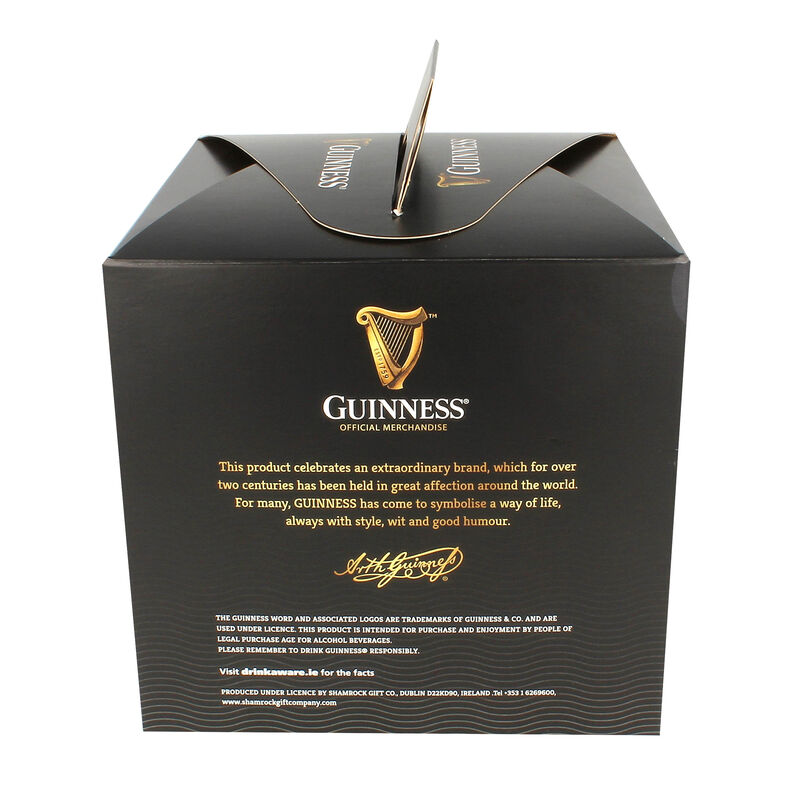 Official Guinness Glasses 4 Pack With Embossed Harp Logo Design