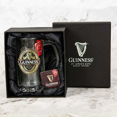 Official Guinness Colour Ruby Red Pewter Tankard With Engraving and Gift Box