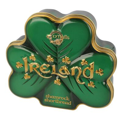 O'Neill'S Shamrock Shaped Shortbread In A Shamrock Shaped Tin  160G