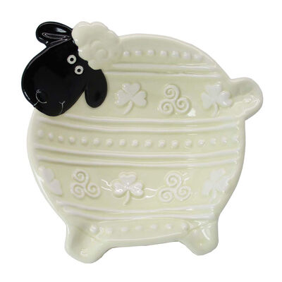 Woolly Ware Hand-Painted Ceramic Celtic Bowl With Sheep Design