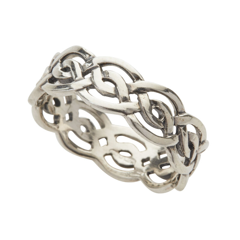 Hallmarked Sterling Silver Celtic Knotwork Ring Presented In A Box