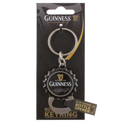 Guinness-aufklappbarer Flaschenöffner Schlüsselanhänger