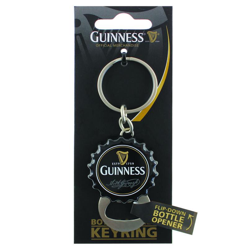 Guinness Flip Down Bottle Opener Keychain