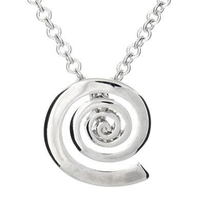 Silver Plated Carrick Silverware Spiral Designed Pendant