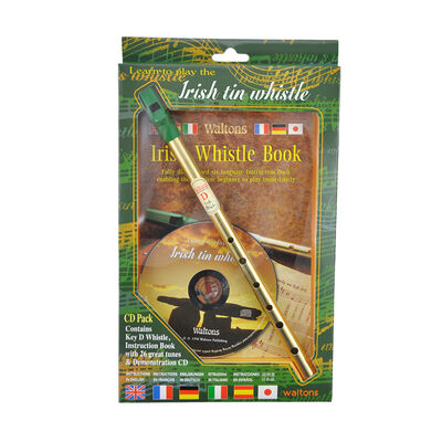 Walton's Irish Tin Whistle In D Book And Cd