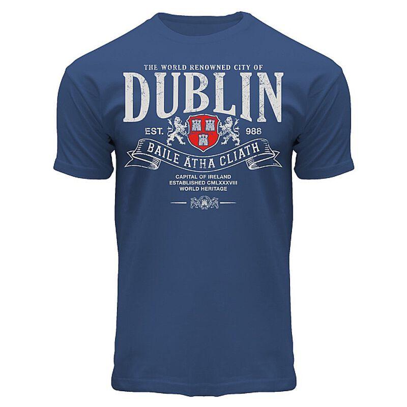 Superior Dublin Baile Átha Cliath Design T-Shirt  Navy Colour