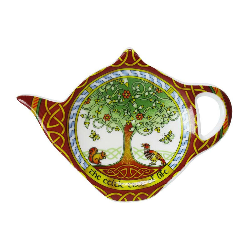 New Bone China Teabag Holder With Celtic Tree Of Life Design  8Cmx11Cm