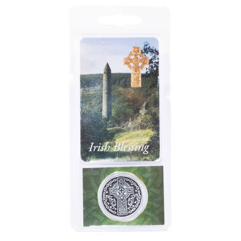Münze mit irischem Segensspruch für die Tasche