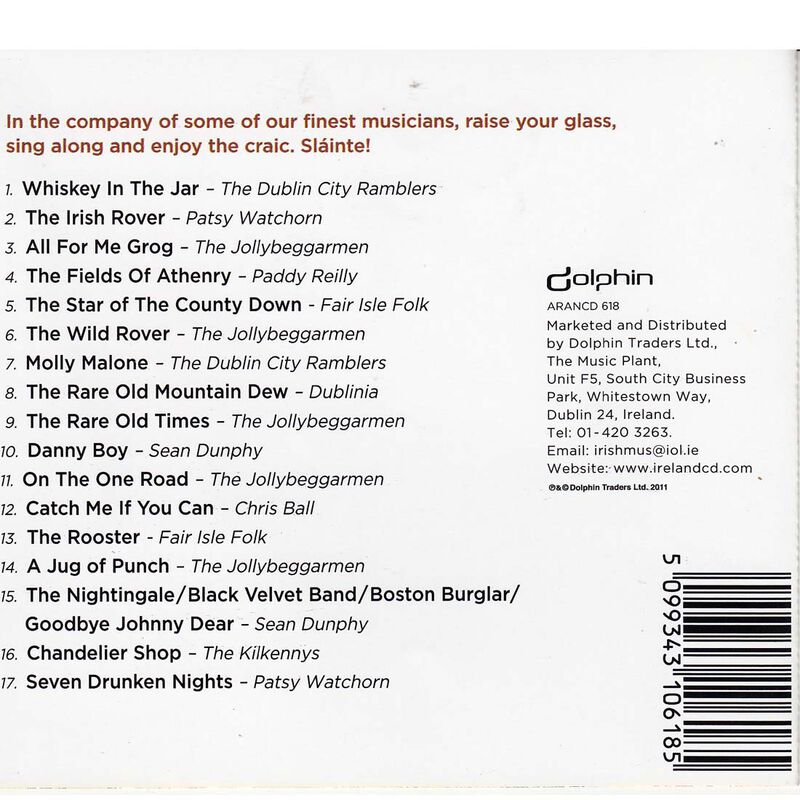 Best Irish Traditional Pub Songs 17 Track Cd From The Best Of Irish Bands