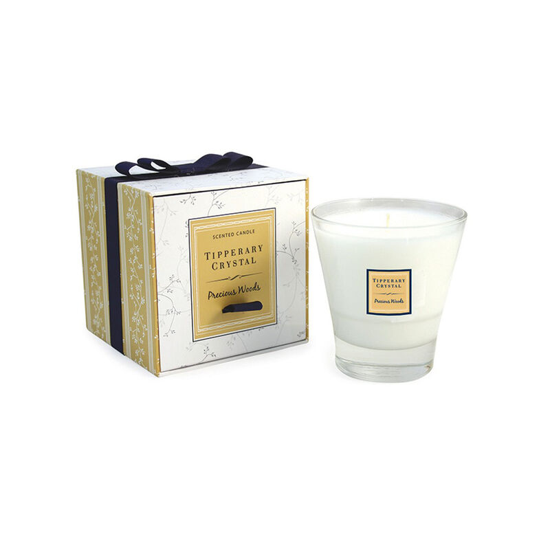 Tipperary Crystal Designed Tumbler Precious Woods Scented Candle