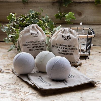 Sandalwood And Rose Bath Ball With Epsom Salts From Herb Dublin