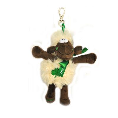13Cm Fluffy Seamus The Sheep Souvenir Keychain With Metal Clip