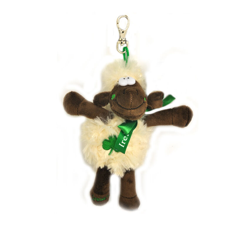 13Cm Fluffy Seamus The Sheep Souvenir Keychain With Metal Clip