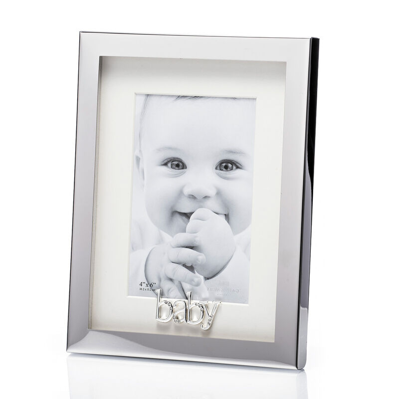 "Newgrange Living Silver Plated Baby Photo Frame  6"" x 4"""
