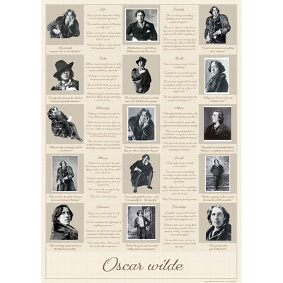 "Oscar Wilde ""His Quotable Life"" Poster"